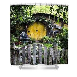 A Pretty Little Hobbit Hole Shower Curtain