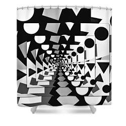 A Priori II Shower Curtain by Aurelio Zucco