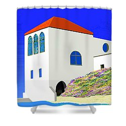 A Private Beach Shower Curtain