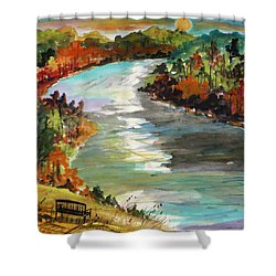 A Private View Shower Curtain