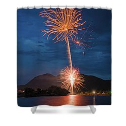 A Prodigious Fulmination In Palmer Lake, Colorado  Shower Curtain