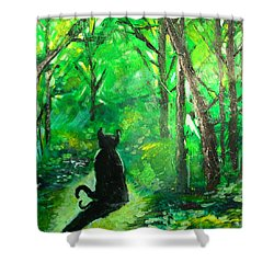 A Purrfect Day Shower Curtain