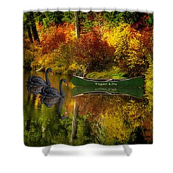 Shower Curtain featuring the photograph A Quiet Autumn Evening by Diane Schuster