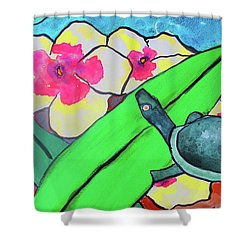 A Quiet Conversation Shower Curtain