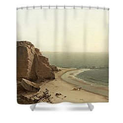Shower Curtain featuring the painting A Quiet Day Near Manchester by Alfred Thompson Bricher