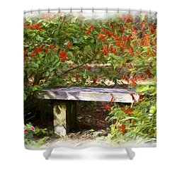 A Quiet Place Shower Curtain by Carolyn Marshall