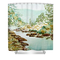 A Quiet Stream In Tasmania Shower Curtain