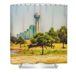 Shower Curtain featuring the photograph A Quiet View by Joan Bertucci