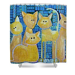 A Quorum Of Cats Shower Curtain