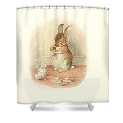 A Rabbit's Tea Party Shower Curtain