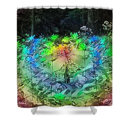 A Rainbow Kind Of Day Shower Curtain by Kathie Chicoine
