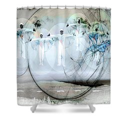 A Rainbow Of Souls Shower Curtain