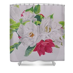A Rose Bouquet Shower Curtain