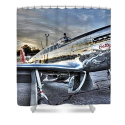 A Reflective Mustang Shower Curtain by David Collins