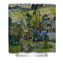 Shower Curtain featuring the painting A Replica Of A Painting  Of Van Gogh by Pemaro