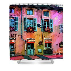 A Restaurant In Beaune, France Shower Curtain