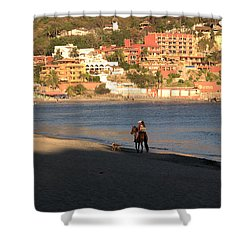 A Ride On The Beach Shower Curtain by Jim Walls PhotoArtist