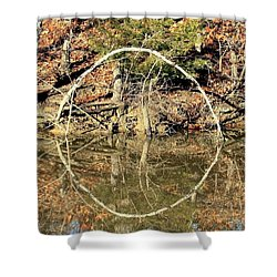 A Ring On The Pond In Fall Shower Curtain
