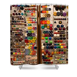 A Riot Of Buttons Shower Curtain