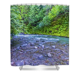Shower Curtain featuring the photograph A River by Jonny D