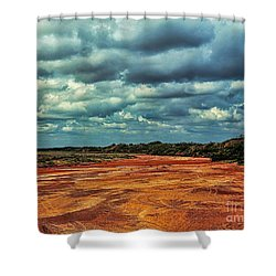 Shower Curtain featuring the photograph A River Of Red Sand by Diana Mary Sharpton
