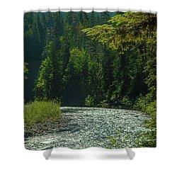 A River Runs Through It Shower Curtain