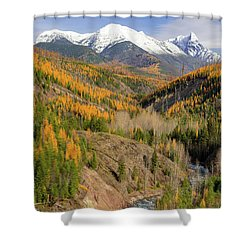 A River Runs Through It Shower Curtain