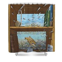 A River Runs Through It Shower Curtain by Susan Schneider