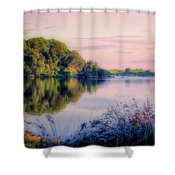 Shower Curtain featuring the photograph A River Somewhere by Wallaroo Images