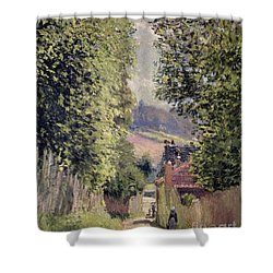 A Road In Louveciennes Shower Curtain by Alfred Sisley