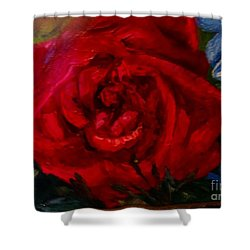 A  Rose Is Shower Curtain