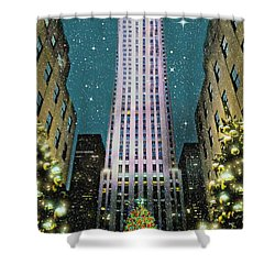 A Rocking Christmas Shower Curtain by Diana Angstadt