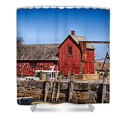 A Rockport Favorite Shower Curtain by Tricia Marchlik