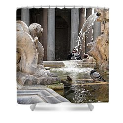 A Roman Bath Time Shower Curtain