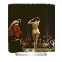 A Roman Slave Market, Jean Leon Gerome Shower Curtain