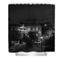 A Roman Street At Night Shower Curtain