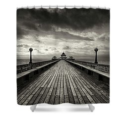 A Romantic Walk To The Past Shower Curtain by Dominique Dubied