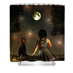 A Romantic Meeting Shower Curtain