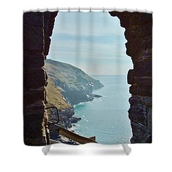 A Room With A View Shower Curtain by Richard Brookes