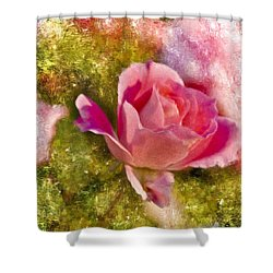 A Rose Among . . . Shower Curtain by Ches Black