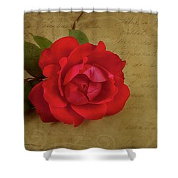 A Rose By Any Other Name Shower Curtain by Lena Auxier