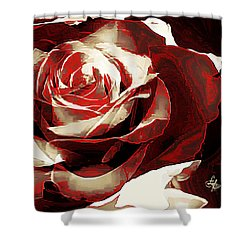 A Rose Of Love Shower Curtain by Lynda Payton