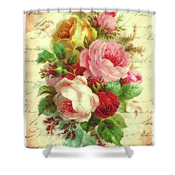 A Rose Speaks Of Love Shower Curtain