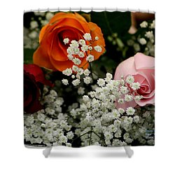 Shower Curtain featuring the photograph A Rose To You by Paul SEQUENCE Ferguson             sequence dot net
