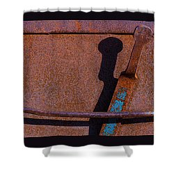 Shower Curtain featuring the photograph A Rusted Development II by Paul Wear
