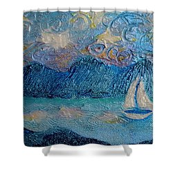 A Sailboat For The Mind #2 Shower Curtain