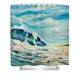 A Sandpiper's View Shower Curtain