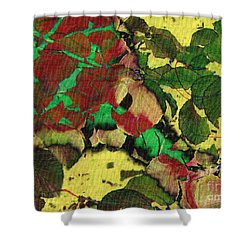 A Scattering Of Leaves Shower Curtain by Kathie Chicoine