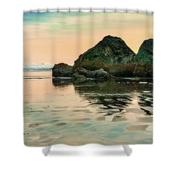 A Scene From The Beach Shower Curtain