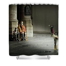 Shower Curtain featuring the photograph A Scene In Oude Kerk Amsterdam by RicardMN Photography